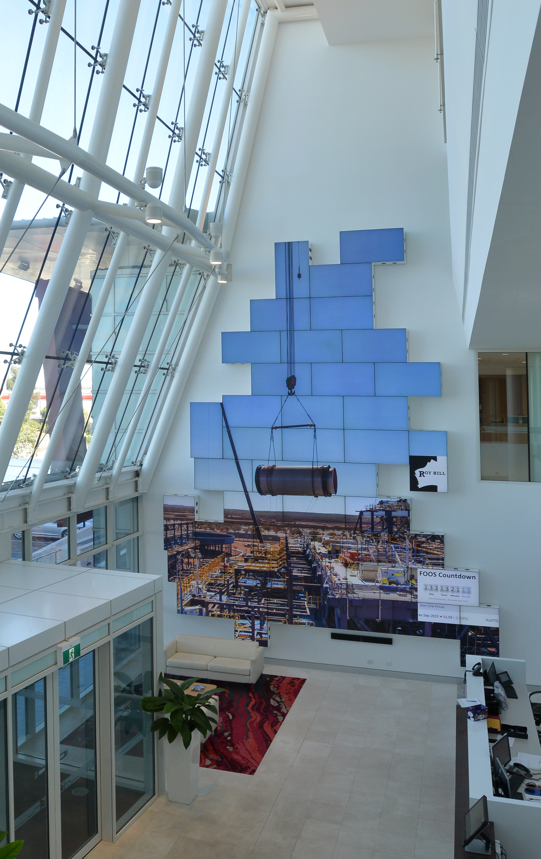 Roy Hill video wall