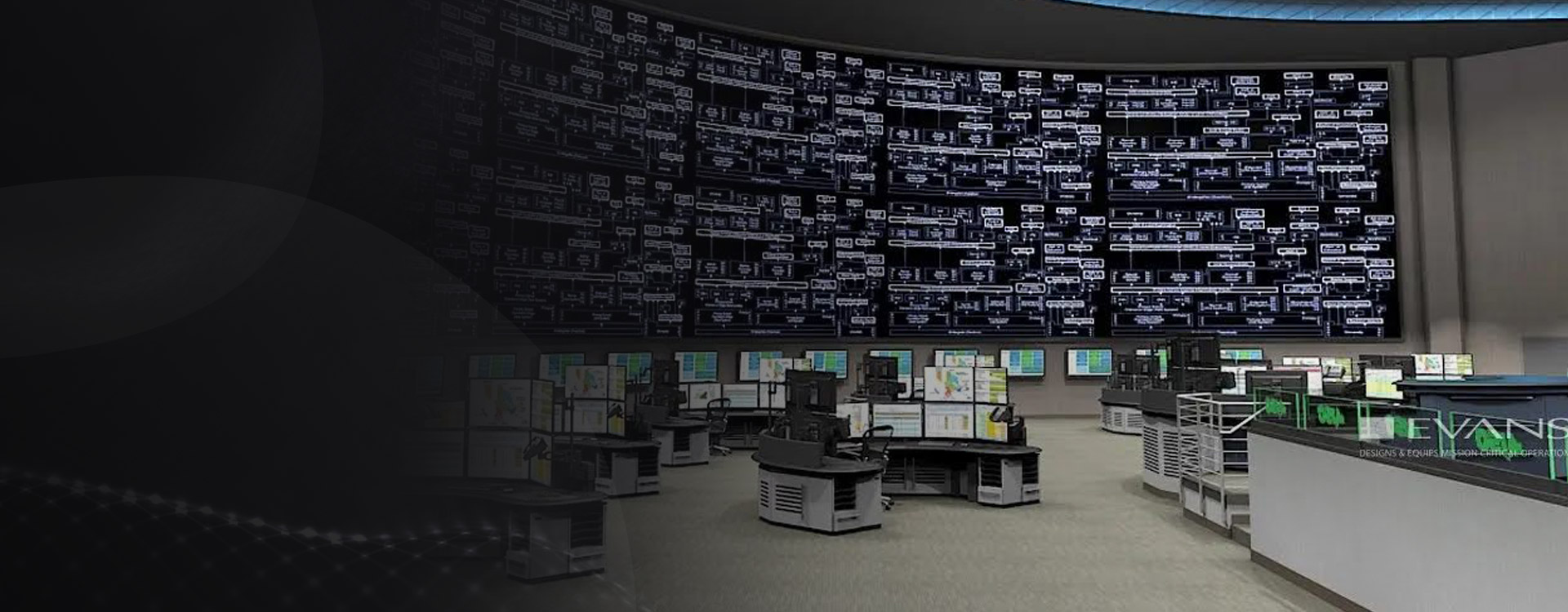 Technical furniture designed specifically for control rooms